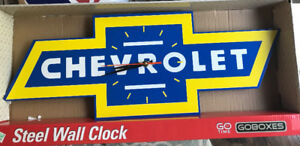 NEW COOL CHEVROLET CHEVY STEEL CLOCK GARAGE CARS