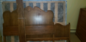 Double bed mattress box spring and frame