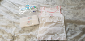 New in packet Peppa Pig vests age 4-5 years