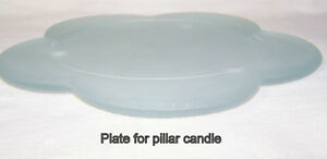 "Pillar Candle Plate, for up to 6"" diameter candles, like new"