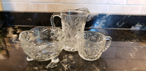 Pinwheel Crystal Wine Glasses and Dishes
