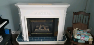 Fireplace mantle and base