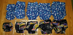 Fleece cloth diaper covers