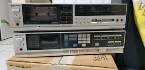 Sony receiver tape cassette player and speakers