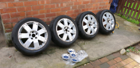 17inch 5 stud alloy wheels with tyres. (COLLECTION ONLY M8 AREA).