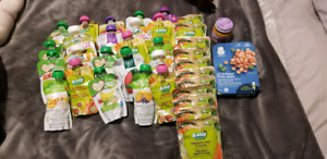 35 packages of puree and baby food
