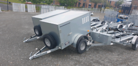 New galvanized dog trailers