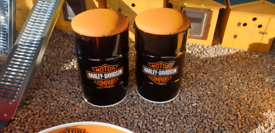 Harley davidson motorbike man cave stools & seats made from oil drum