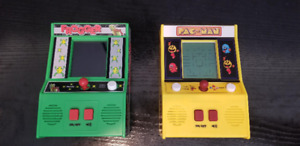 Mini Arcade Games Pac-Man & Frogger Like New- Comme Neuf