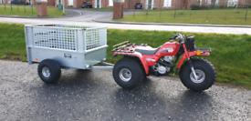 Broniss off road quad trailer removable meshsides and ramp door atv
