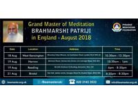Free Meditation session by GrandMaster Patriji