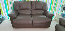 Twoseat Sofa Recliner - Leather