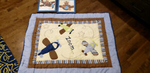 Baby Blanket with wall art