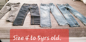 4 to 5yrs old bottoms/jeans