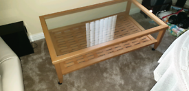 Coffee Table with magazine storage