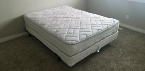 Queen Mattress, Base and Stand