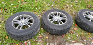 4 alloy wheels and tires 5x114.3