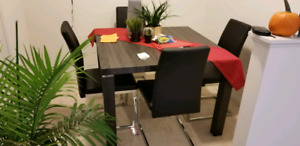 Dining Table (Grey & Silver) URGENT!