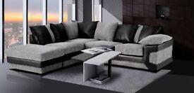 Fresh Arrived Aruba Chenille Fabric Corner Sofa / 3 and 2 Sofa Set - **SAME DAY DELIVERY**