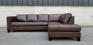 JURA Sectioanl Leather Sofa - 100% Top  grain leather