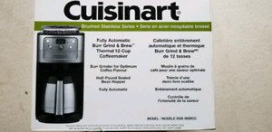 Cuisinart fully automatic burr grind and 12 cup coffee maker
