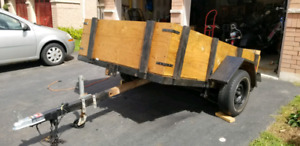 5 1/2 x8 utility trailer new wood new lights