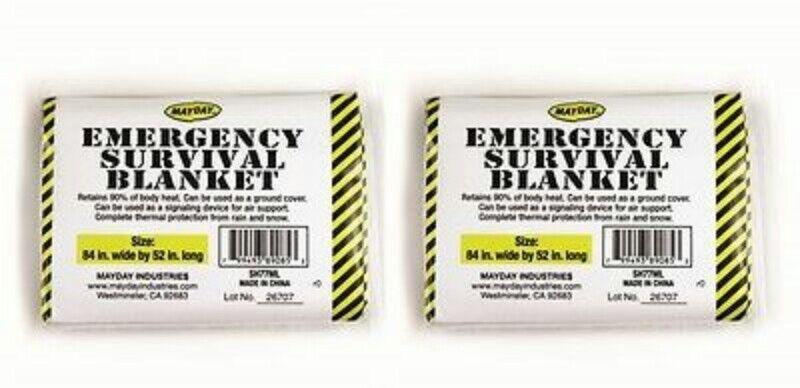 2 Emergency Survival Blanket Camping Hiking First Responder