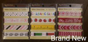 3 Brand New Recollections Themed Ribbon Sets