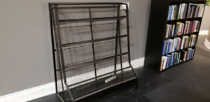 Large Black metal book shelf - flawless, takes considerable load