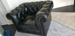 Restoration hardware leather chair