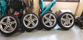 "4 X Audi A4 8w B9 S Line 18"" Inch Alloy Wheels 8jx18 Et40 8w0601025r"