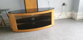 Tv unit like new holds upto 65inch tv curv