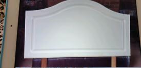 White single bed head board