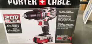 Porter cable 20V drill/driver +batteries and charger