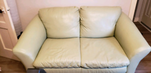Moving Sale  -  Leather Loveseat