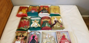Holiday Barbie collection set 1989-2000