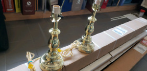 "Brass Table Lamps 20"" high. Like new."