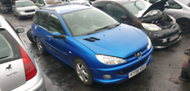 Breaking for spares Peugeot 206 sw 1.6 hdi 110 bhp 2006