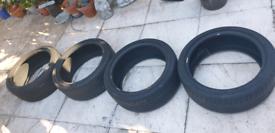 Bridgestone Potenza Tyres 4 x Partworn