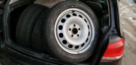 "16"" Genuine VW winter wheels & tyres CADDY GOLF SHARAN TOURAN 5 6 7"