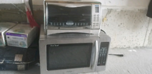 Stainless steel Microwave and toaster