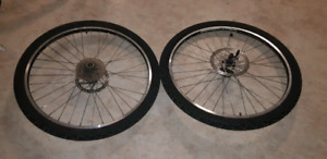 26er wheelset like new