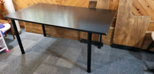 "Black Wood Table, 32"" x 59"""