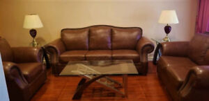 "Extremely Luxury "" Campio "" Leather Sofa Set, Can Deliver"