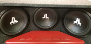 """3 12"""" JL AUDIO SUBS/PORTED BOX"""