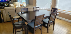 Table, buffet and TV entertainment cabinet