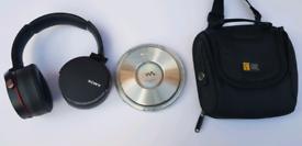 Sony DNE1 + Sony MDR-XB950B1 Extra Bass Bluetooth Wireless Headphones & Bag