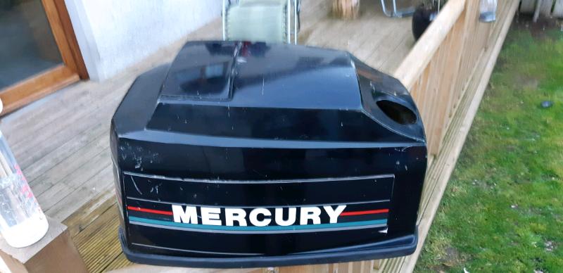 Mercury 60hp outboard hood lid and oil tank | in Kilkeel, County Down |  Gumtree