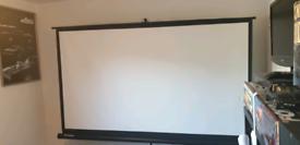 """Projector Screen - 100"""" Wide-screen"""