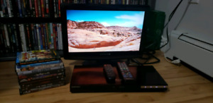 "LOT of Dynex 19"" TV, Samsung Bluray Player + 10 Dvd/Blurays"